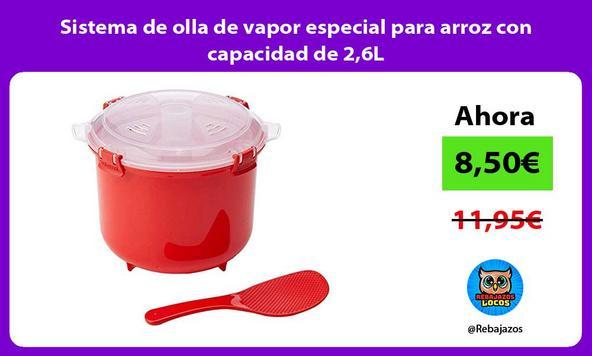 Sistema de olla de vapor especial para arroz con capacidad de 2,6L