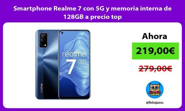 Smartphone Realme 7 con 5G y memoria interna de 128GB a precio top