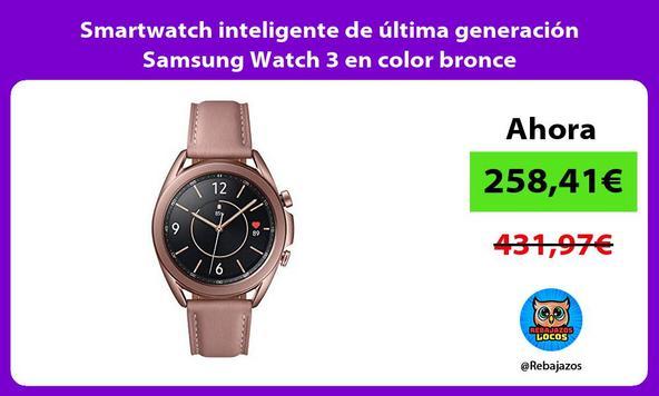 Smartwatch inteligente de última generación Samsung Watch 3 en color bronce