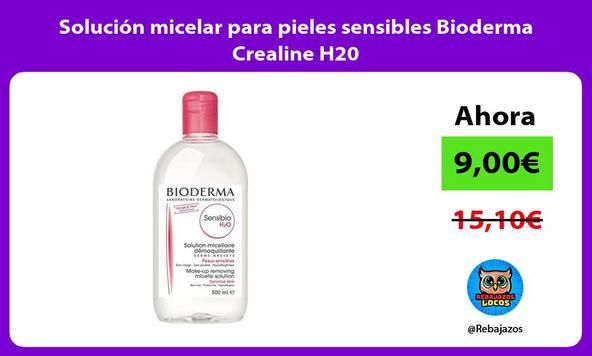 Solución micelar para pieles sensibles Bioderma Crealine H20