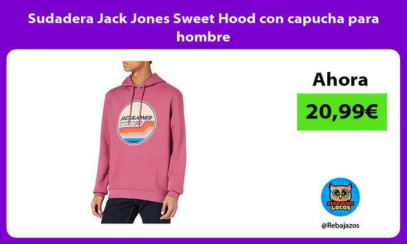 Sudadera Jack Jones Sweet Hood con capucha para hombre