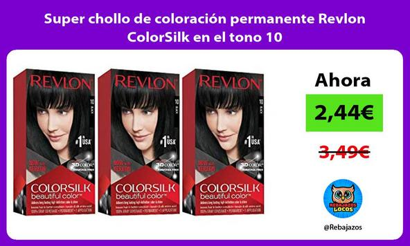 Super chollo de coloración permanente Revlon ColorSilk en el tono 10