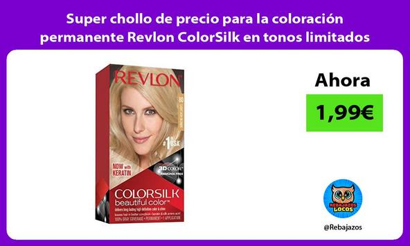 Super chollo de precio para la coloración permanente Revlon ColorSilk en tonos limitados