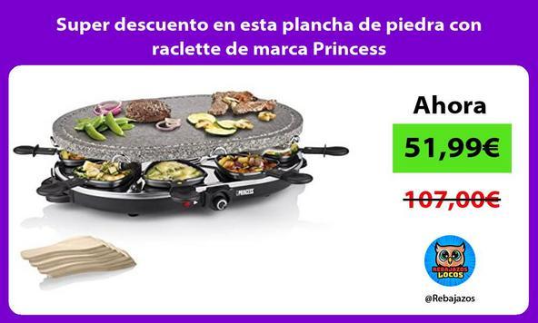 Super descuento en esta plancha de piedra con raclette de marca Princess