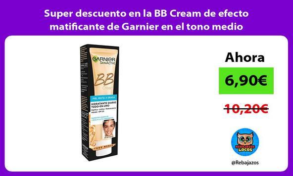 Super descuento en la BB Cream de efecto matificante de Garnier en el tono medio