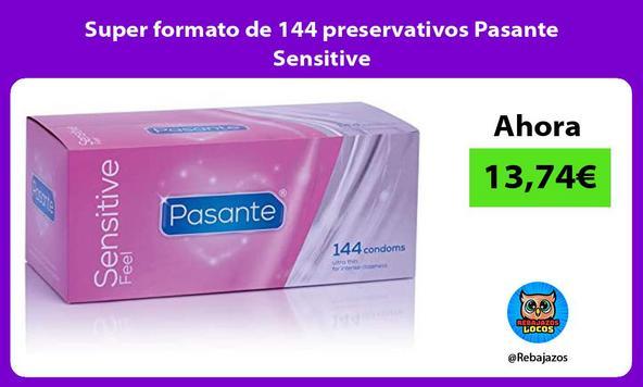 Super formato de 144 preservativos Pasante Sensitive