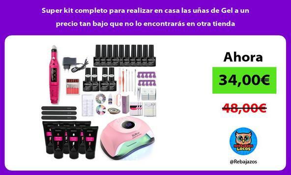 Super kit completo para realizar en casa las uñas de Gel a un precio tan bajo que no lo encontrarás en otra tienda