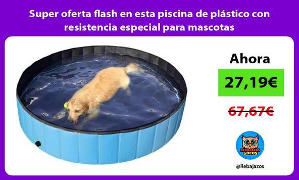 Super oferta flash en esta piscina de plástico con resistencia especial para mascotas