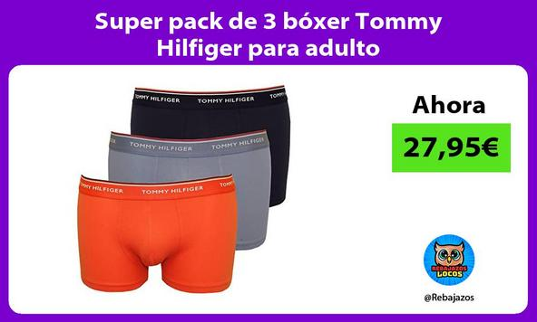 Super pack de 3 bóxer Tommy Hilfiger para adulto