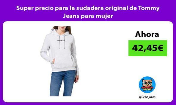 Super precio para la sudadera original de Tommy Jeans para mujer