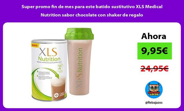 Super promo fin de mes para este batido sustitutivo XLS Medical Nutrition sabor chocolate con shaker de regalo
