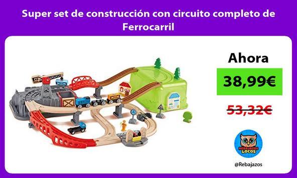 Super set de construcción con circuito completo de Ferrocarril