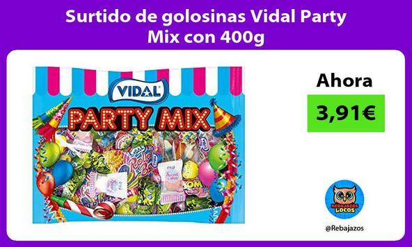 Surtido de golosinas Vidal Party Mix con 400g