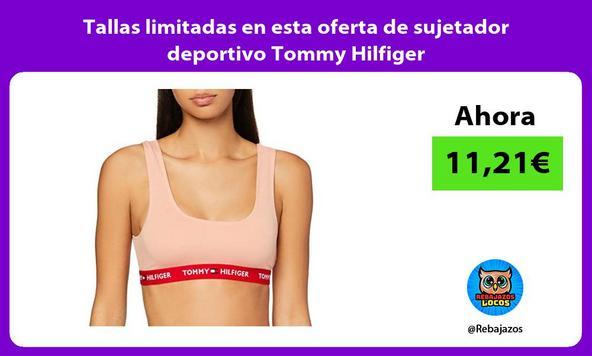 Tallas limitadas en esta oferta de sujetador deportivo Tommy Hilfiger