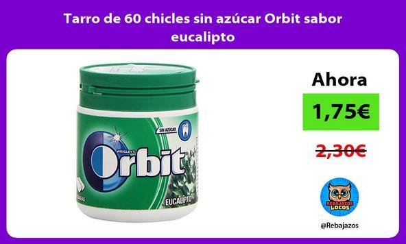 Tarro de 60 chicles sin azúcar Orbit sabor eucalipto