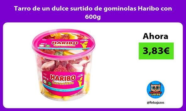 Tarro de un dulce surtido de gominolas Haribo con 600g