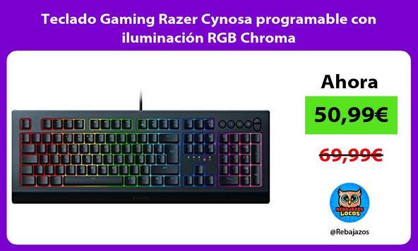 Teclado Gaming Razer Cynosa programable con iluminación RGB Chroma