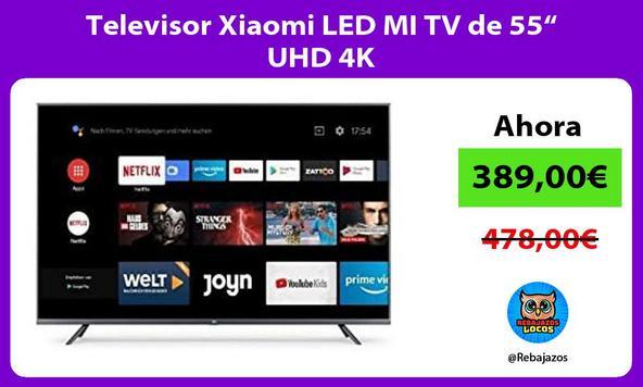 """Televisor Xiaomi LED MI TV de 55"""" UHD 4K"""