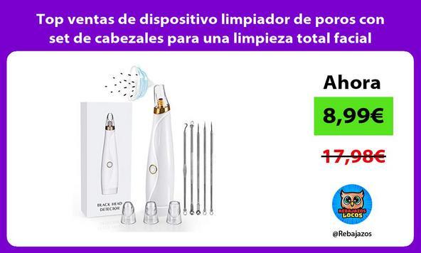 Top ventas de dispositivo limpiador de poros con set de cabezales para una limpieza total facial