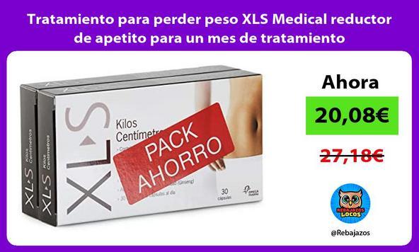 Tratamiento para perder peso XLS Medical reductor de apetito para un mes de tratamiento