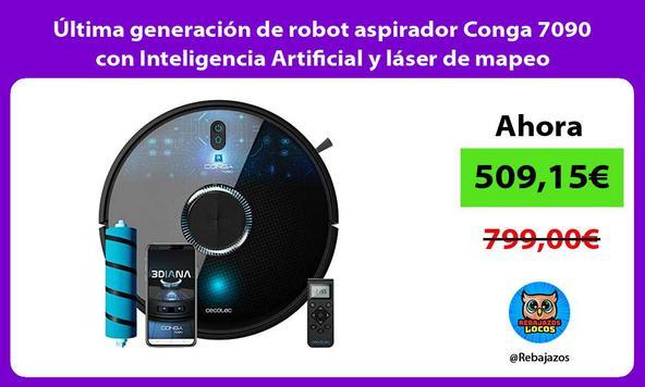 Última generación de robot aspirador Conga 7090 con Inteligencia Artificial y láser de mapeo