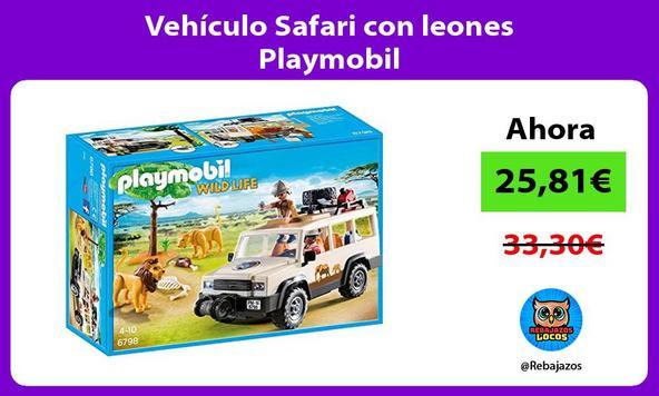 Vehículo Safari con leones Playmobil