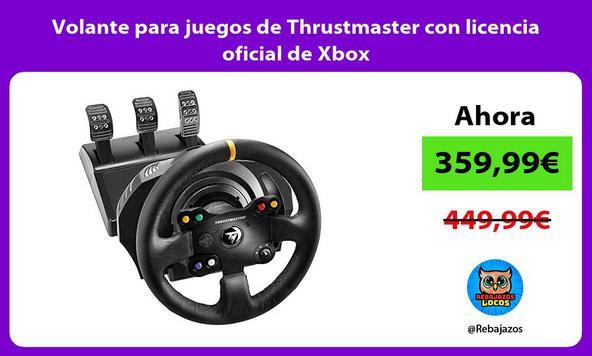 Volante para juegos de Thrustmaster con licencia oficial de Xbox