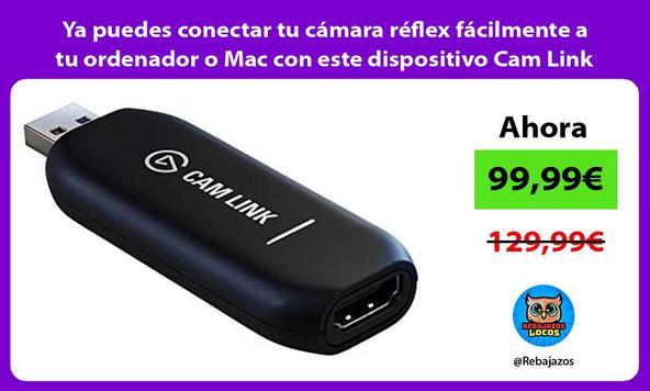 Ya puedes conectar tu cámara réflex fácilmente a tu ordenador o Mac con este dispositivo Cam Link