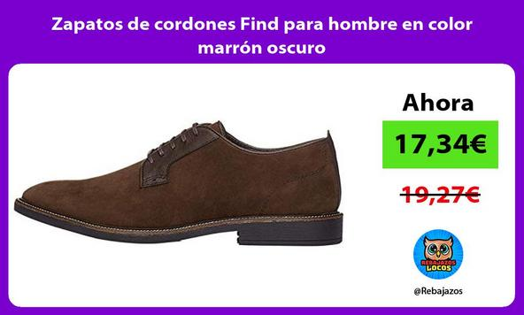 Zapatos de cordones Find para hombre en color marrón oscuro