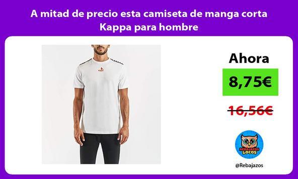 A mitad de precio esta camiseta de manga corta Kappa para hombre