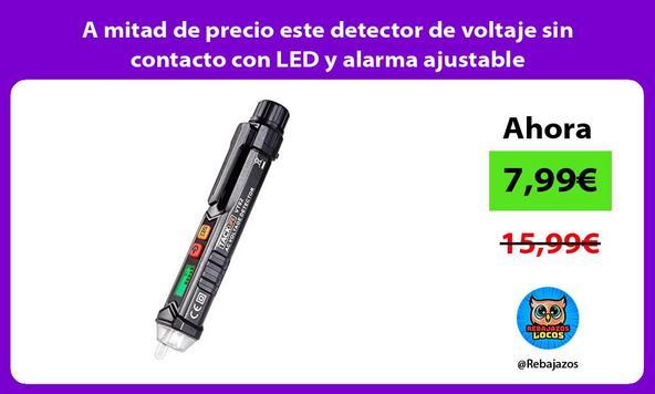A mitad de precio este detector de voltaje sin contacto con LED y alarma ajustable