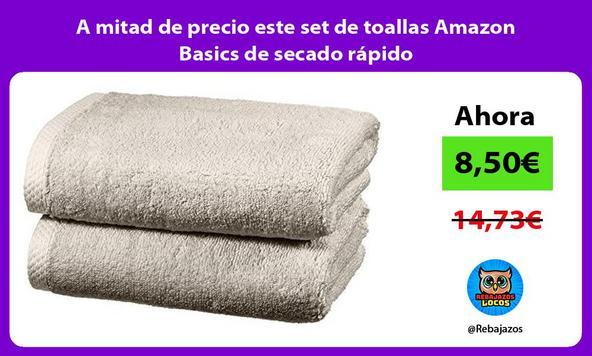 A mitad de precio este set de toallas Amazon Basics de secado rápido