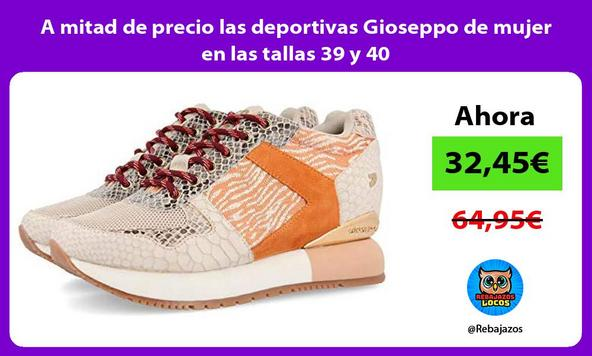 A mitad de precio las deportivas Gioseppo de mujer en las tallas 39 y 40