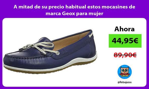 A mitad de su precio habitual estos mocasines de marca Geox para mujer