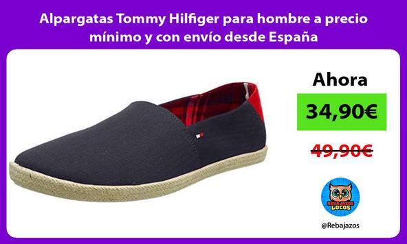 Alpargatas Tommy Hilfiger para hombre a precio mínimo y con envío desde España