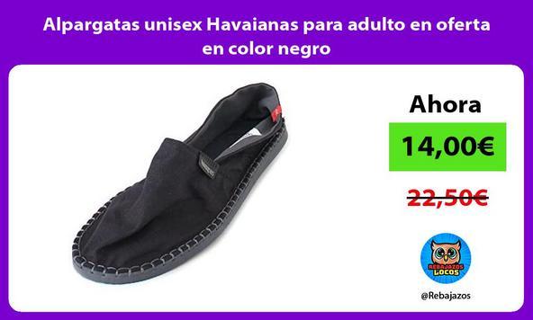 Alpargatas unisex Havaianas para adulto en oferta en color negro