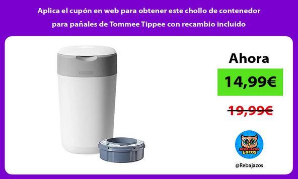 Aplica el cupón en web para obtener este chollo de contenedor para pañales de Tommee Tippee con recambio incluido