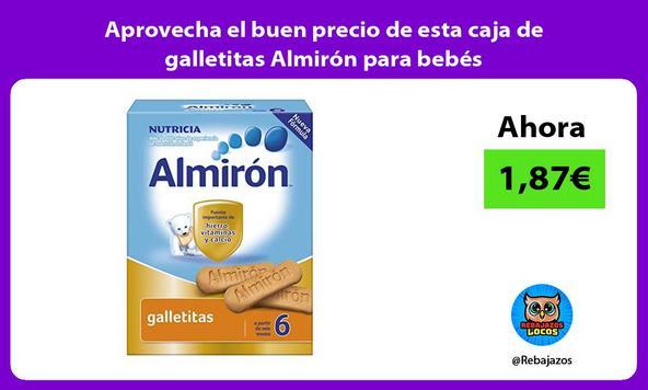 Aprovecha el buen precio de esta caja de galletitas Almirón para bebés