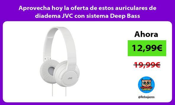 Aprovecha hoy la oferta de estos auriculares de diadema JVC con sistema Deep Bass