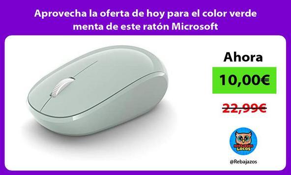 Aprovecha la oferta de hoy para el color verde menta de este ratón Microsoft