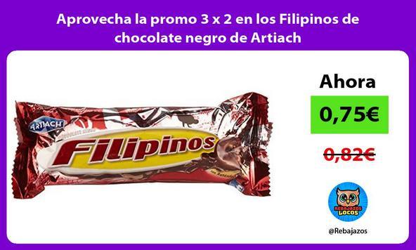 Aprovecha la promo 3 x 2 en los Filipinos de chocolate negro de Artiach/