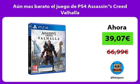 """Aún mas barato el juego de PS4 Assassin""""s Creed Valhalla"""
