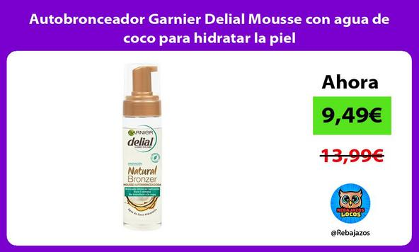 Autobronceador Garnier Delial Mousse con agua de coco para hidratar la piel