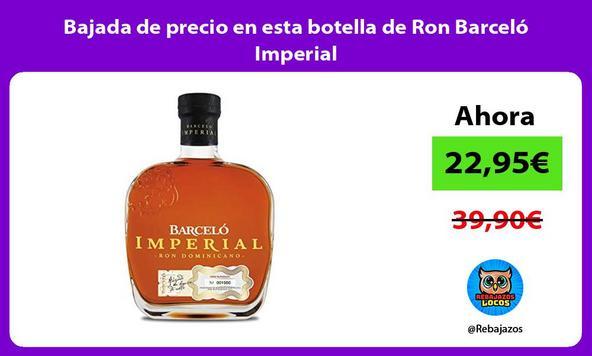 Bajada de precio en esta botella de Ron Barceló Imperial
