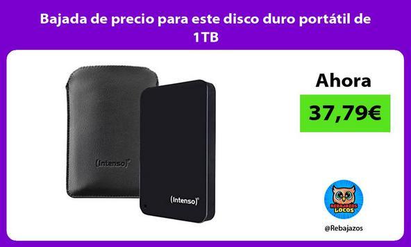 Bajada de precio para este disco duro portátil de 1TB