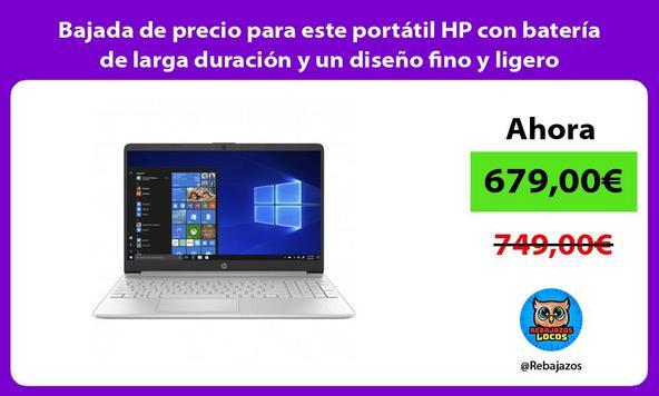 Bajada de precio para este portátil HP con batería de larga duración y un diseño fino y ligero