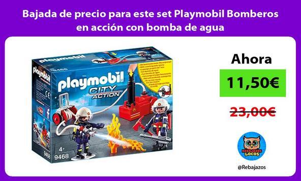 Bajada de precio para este set Playmobil Bomberos en acción con bomba de agua