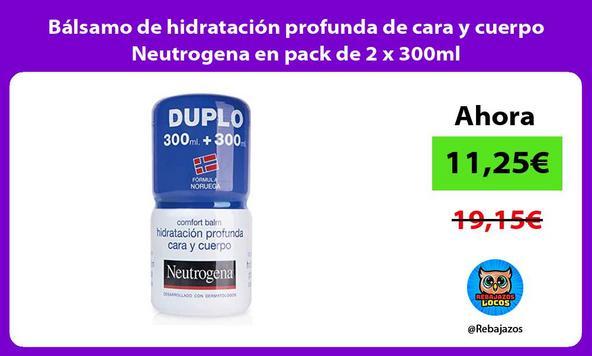 Bálsamo de hidratación profunda de cara y cuerpo Neutrogena en pack de 2 x 300ml