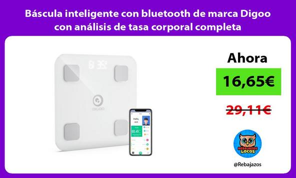 Báscula inteligente con bluetooth de marca Digoo con análisis de tasa corporal completa
