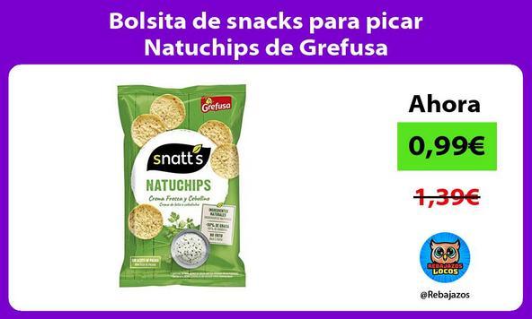 Bolsita de snacks para picar Natuchips de Grefusa